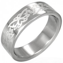 Stainless steel ring - butterflies