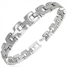 Ladies surgical steel bracelet - connected Y - letters