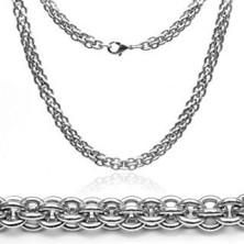 Stainless steel chain - massive, double link