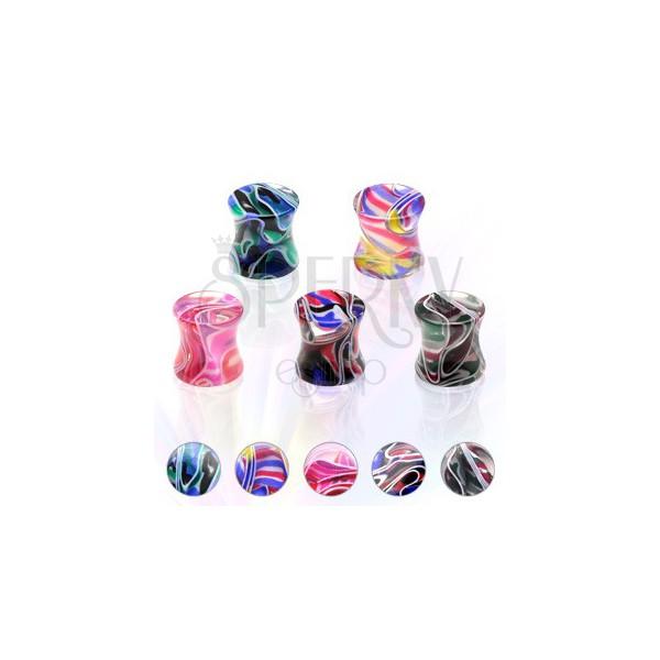 Marbled saddle colourful UV ear plug